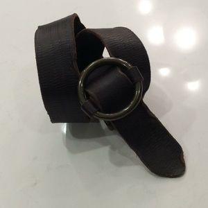 Vintage Center Bar Leather Belt